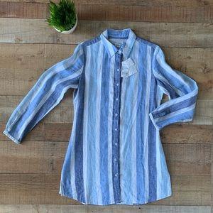 NEW Island Company Womens Gentlemans Tunic Shirt